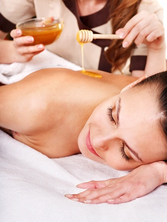 Young woman getting spa treatment outdoor. Stock Photo - 13309166