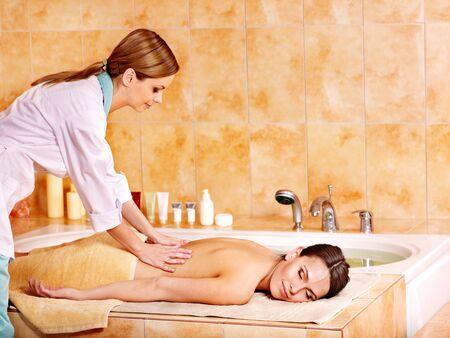 turkish bath: Massage  in hammam or turkish bath. Spa resort. Stock Photo