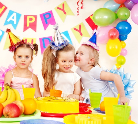 Children happy birthday party . photo