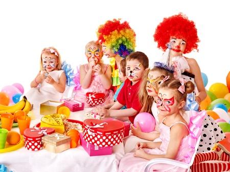 Kinderen gelukkige verjaardag.