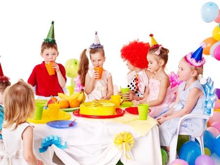 Child happy birthday party . photo