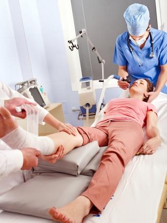 herida: Anestesia para la cirugía en el hospital.