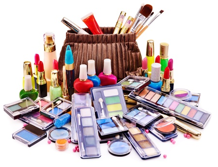 Decorative cosmetics for makeup. Close up. Stock Photo - 14530334