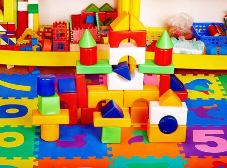 Interior of kindergarten with toy. Stock Photo - 14531845