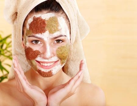 Natural homemade clay  facial mask. photo