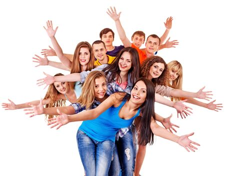 Group people isolated thumb up. Stock Photo - 15231539