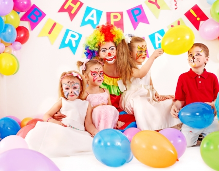 Child happy birthday party . Stock Photo - 15290432