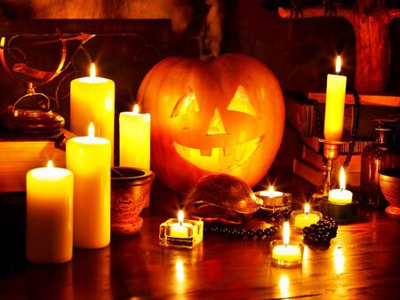 Halloween pumpkin lantern. Decoration. photo