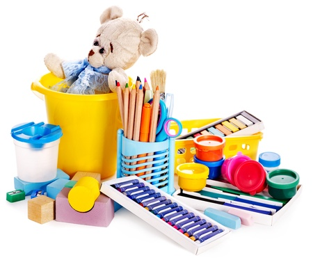 Children toys for development. Isolated. Stock Photo - 15832397