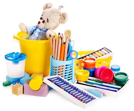 Children toys for development. Isolated. Stock Photo - 15832397