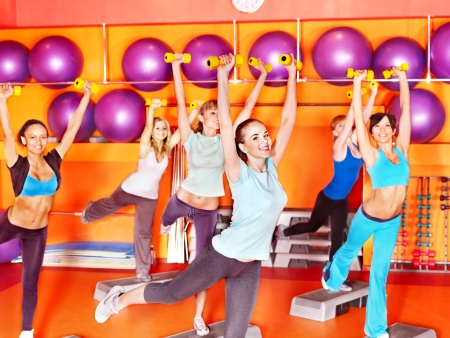 Women group in aerobics class. Stock Photo - 17572714