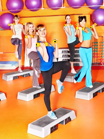 Women group in aerobics class. Stock Photo - 17572784