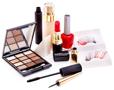 cosmetics collection: Group decorative cosmetics for makeup. Still life.