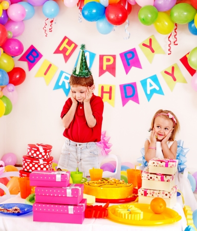 Children happy birthday party . Stock Photo - 17753899