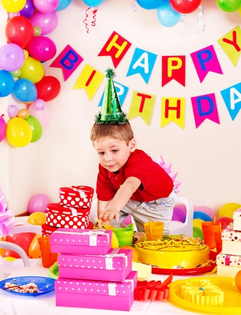 Children happy birthday party . Stock Photo - 17753805