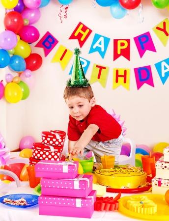 Children happy birthday party . Stock Photo - 17753805