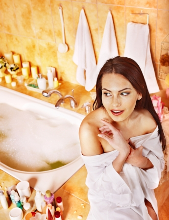Woman relaxing at home luxury bath. Stock Photo - 17701696