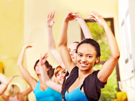 Women group in aerobics class. Stock Photo - 17967031
