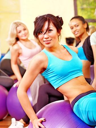 Women group in aerobics class. Stock Photo - 18940446