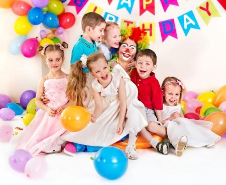 clown: Child happy birthday party .