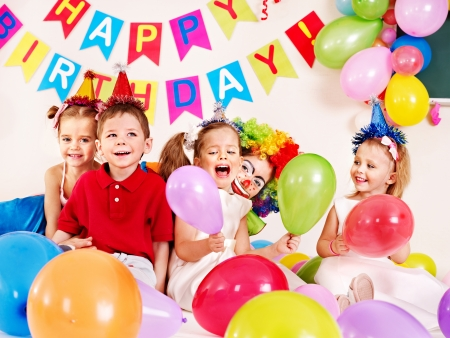 Child happy birthday party   Stock Photo - 22528008