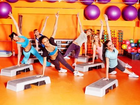 Women group in aerobics class  photo