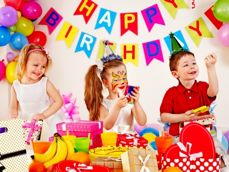 Children happy birthday party . Stock Photo - 22846974