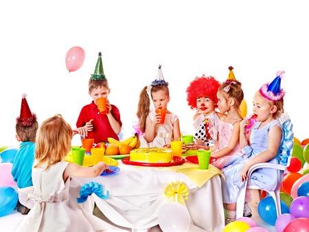 Child happy birthday party . Stock Photo - 23013016