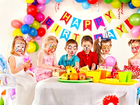 Child happy birthday party . Stock Photo - 23353689