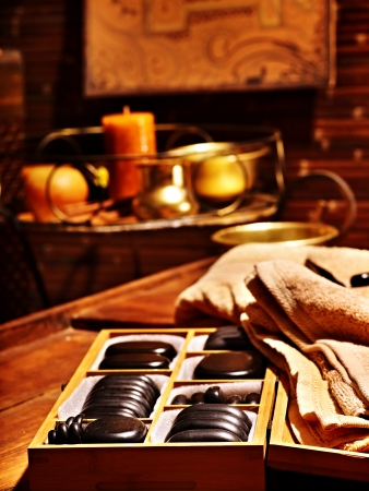Luxury ayurvedic spa massage still life. photo