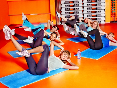 Women group in aerobics class  photo