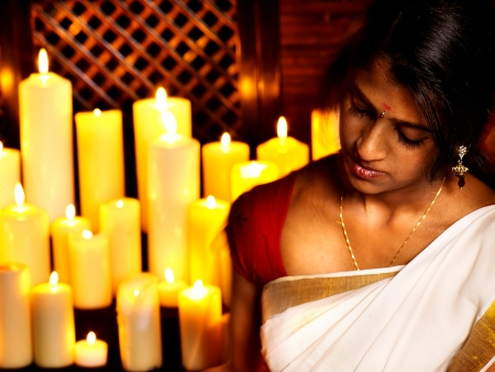 panchakarma: Young woman do Ayurveda spa treatment. Stock Photo