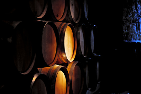 cask: Barrel of wine in old winery.