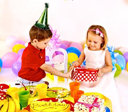 Children happy birthday party . Stock Photo - 25572981