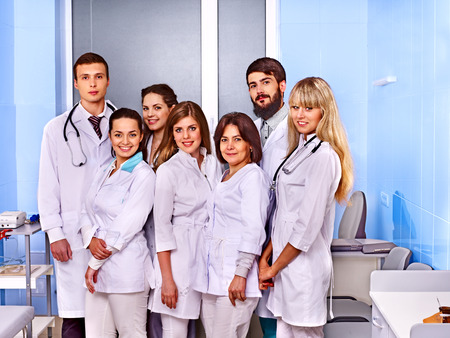 Happy group of doctor at hospital. Stock Photo - 25974132