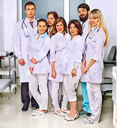 Happy group of doctor at hospital. Stock Photo - 28451368