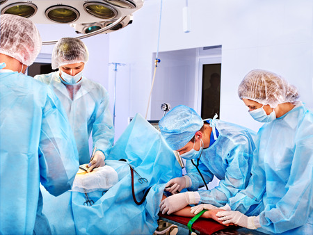 Team surgeon at work in operating room. Stock Photo - 28631098