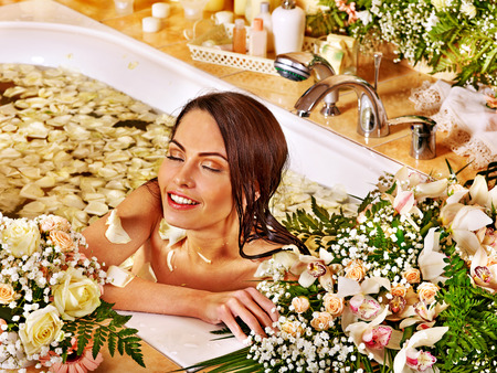 Woman relaxing at water spa. Stock Photo - 30617806