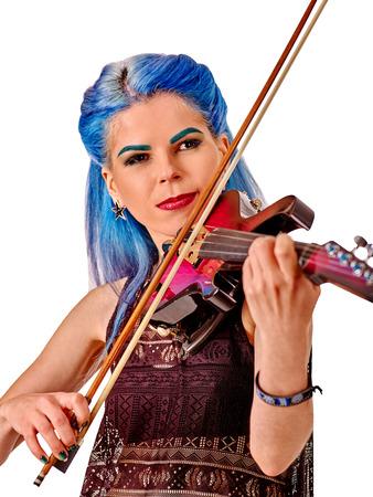 violinista: M�sica violinista artistas chica en aislada.