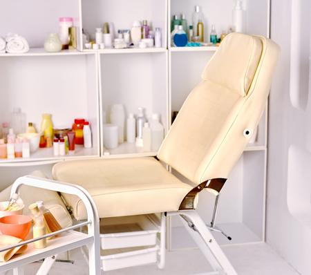 silla: Inter de salón de cosmetología belleza. Foto de archivo