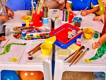 game room: Interior of art game room in kids preschool  kindergarten.