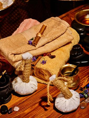 ayurvedic: Luxury ayurvedic spa massage still life. Spa acsessories.