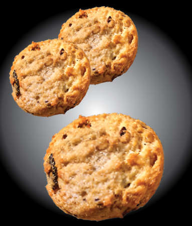 Cookies vector illustration. Homemade chocolate chip on sweet food. 版權商用圖片