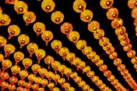Asian lanterns during a religous festival. photo