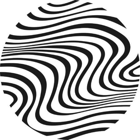 Zebra in cirkel Stock Illustratie