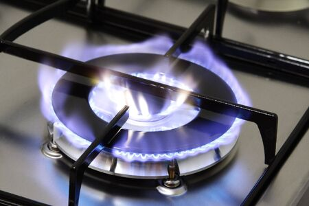 The flame of gas burner photo