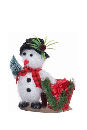Christmas Snowman isolated on white photo
