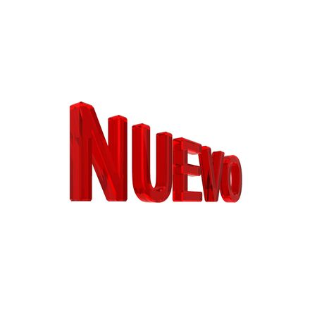 Spanish new sign isolated on white. Computer generated 3D photo rendering Stock Photo - 4503250