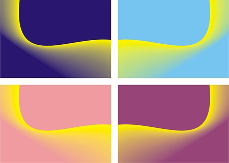 Color abstract background - a set of four of the eight series Stock Vector - 4561993