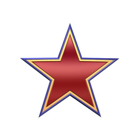 Star Icon. Computer generated 3d photo rendering. Stock Photo - 4602319